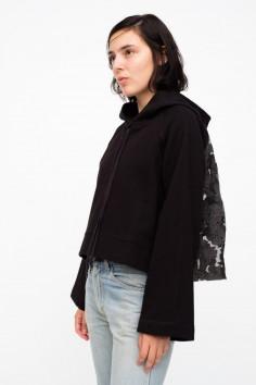 bell sleeve combo sweatshirt