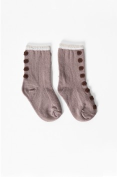 mini seamdot crew socks