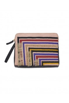 safari clutch in stella stripes