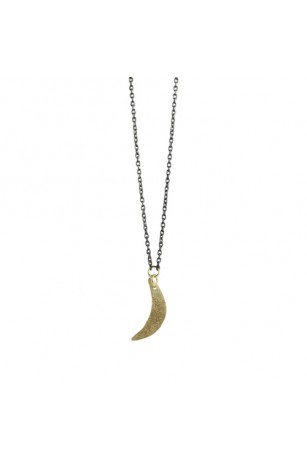 mini crescent necklace